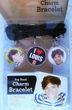 "1D ~ONE DIRECTION ""LOUIS"" BLACK CHARM BRACELET JEWELRY Christmas Gift NEW!"