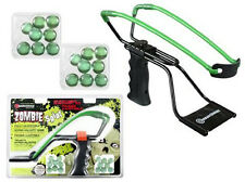 Marksman Zombie Adjustable Slingshot Kit High Velocity Band & 16 Marbles 3061Z