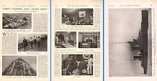 1914 WWI - ARTICLE ~ HMS QUEEN MARY CMDR JAMES CAPTAIN HALL CINEMA CHURCH ETC
