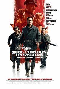 Inglourious Basterds movie poster - Brad Pitt, Christoph Waltz - 11 x 17 inches
