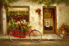 Stopping In by David Lakewood Bicycle Canvas Giclee