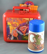 Vtg Disney Hunchback of Notre Dame Plastic Red Lunch Box with Thermos New