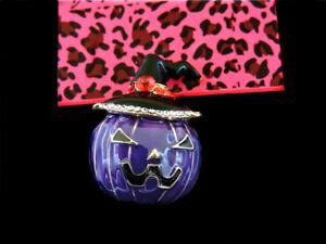 Betsey Johnson  Purple Enamel Lovely Halloween Pumpkin Charm Woman Brooch Pin