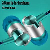 Metal In-Ear Stereo Headphone Bass Earphone Sports Headset Handsfree Earbuds+Mic