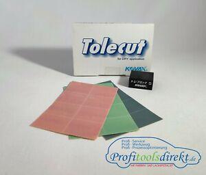 Kovax Tolecut Set Original 3 Bögen + Schleifblock Pink/Grün/Schwarz *Neu*