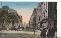 Lancashire Postcard - Bold Street - Liverpool - Ref 708A