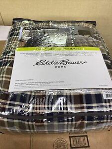 Eddie Bauer Full Queen Comforter Set Rugged Plaid 196263