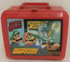 Vintage 1989 Nintendo Power Super Mario Bros Zelda II 2 Link Lunch Box Thermos
