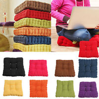 100% Cotton Chunky Booster Cushion Thick Seat Pads Adults Chair Armchair Garden