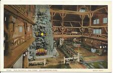 Postcard - Old Faithful Inn Lobby - Yellowstone. Unposted. J E Haynes