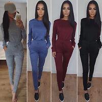 Women Party Playsuit Jumpsuit Ladies Tracksuit Lounge Wear Gym Slim Fit Trousers