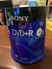 BRAND NEW Sealed SONY DVD+R 100 PACK Spindle! AccuCore, 120 Min, 4.7 GB, 1 - 16x