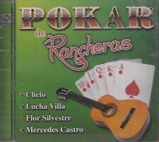 Chelo Lucha Villa Flor Silvestre Mercedes Castro Pokar De Rancheras CD NewSealed
