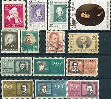 Polen -- Berühmte Persönlichkeiten -- Lot 14 Briefmarken