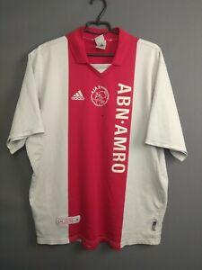 Ajax Jersey 2001 2002 Home Size XL Shirt Soccer Football Adidas ig93