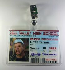Back To The Future ID Badge-Hill Valley High School Griff Tannen cosplay