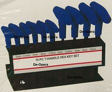 10Pc T-Handle Hex Allen Key Set With Rack 2mm - 10mm Wrench T Bar Set