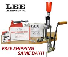 90928 LEE Value 4 Hole Turret Press KIT w/ NEW Auto Drum Powder Measure New!