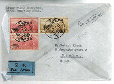 1948 Shanghai Ghetto China Airmail Cover to Czechoslovakia Walter Robert Kisch