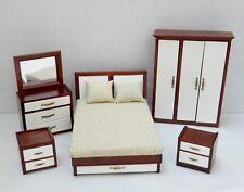 Vintage Fantastic Merchandise MCM Bedroom Set Dollhouse Miniature 1:12