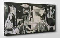 🎨 Quadro Picasso GUERNICA Stampa su Tela Puro Cotone Vernice Pennellate ⚔️