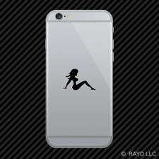 (2x) Mudflap Girl Cell Phone Sticker Mobile trucker many colors