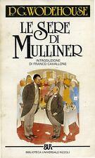 """P. G. WODEHOUSE """" LE SERE DI MULLINER """" 1985 - Introduzione di Franco Cavallone"""
