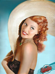 ✅ Rita Hayworth -1st.Edition Enhanced Giclee,Canvas,Painted,Signed by KOUFAY
