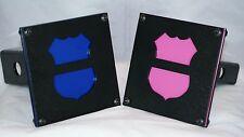 Law Enforcement Memorial Badge Hitch Cover (3 Color Schemes)