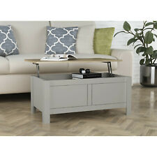 Grey Oak effect Coffee Table With Lift Up Top  Large Storage