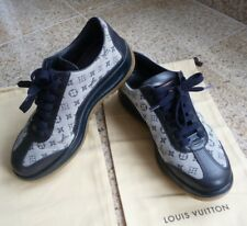 Louis Vuitton Logo Sportschuhe Sneaker Canvas Leder Gr. 37,5 Rarität!