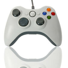 USB Wired Xbox360 Shape PC Gaming Controller Gamepad for PC Windows White