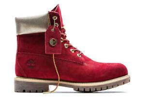 """Timberland Womans LIMITED Release NAUGHTY OR NICE 6"""" inch Boots RED SIZE 10 USA"""