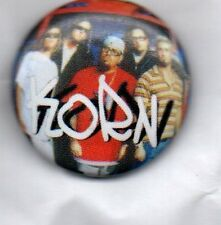 KORN - BUTTON BADGE - AMERICAN NU METAL BAND - THOUGHTLESS - LIFE IS PEACHY