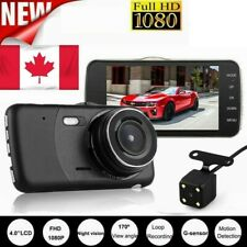 1080P Dual Lens Car Front and Rear Camera DVR Dash Cam Video Recorder 4'' FHD