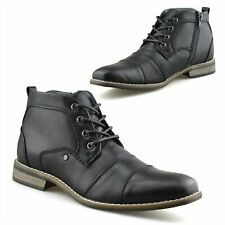Mens Smart Zip Up Military Style Army Biker Work Ankle Chelsea Boots Shoes Size