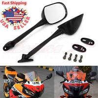 Black Motorcycle Rear View Mirrors Custom For Honda CBR250R CBR600RR CBR1000RR