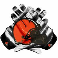 American Pittsburgh Steelers Team NFL Football Gloves With Glue Grip