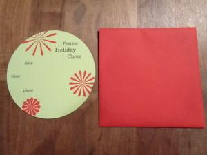 Crane & Co. Set of 10 Festive Christmas Holiday Party Invitations