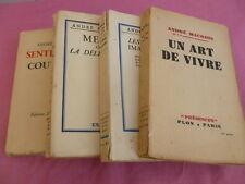 LOT DE LIVRES ANDRE MAUROIS / SENTIMENTS & COUTUMES - MONDES IMAGINAIRES
