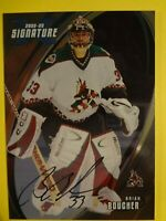 2002-03 IN THE GAME BRIAN BOUCHER SIGNATURE SERIES  AUTOGRAPHED CARD