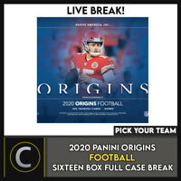2020 PANINI ORIGINS FOOTBALL 16 BOX (FULL CASE) BREAK #F668 - PICK YOUR TEAM