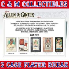 ALBERT PUJOLS 2020 ALLEN & GINTER 2 CASE 24 BOX PLAYER BREAK LOT ANGELS