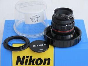 "RARE Macro Nikkor 12cm f:6.3 M39 SM  with cap/bubble US SELLER NICE ""LQQK"""