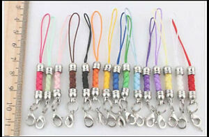 100Pcs multicolor DIY Mobile Cell Phone cord Strap Lariat Lanyard Lobster Clasp