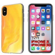 Thin Gel Phone Case Cover Apple iPhone XS,PastelGradient 4 Design Texture Print