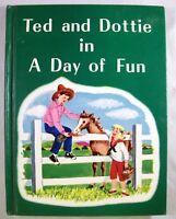 Vintage Ted and Dottie 1967 HB W.S. Benson  Children Textbook Reader