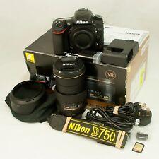 Nikon D750 24.3MP DSLR Camera & DX VR 24-120mm f4 Lens-Boxed & Quasi Nuovo.