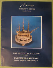 Lloyd Collection Unreserved Auction Catalogue August 7 1988