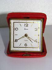 ANCIEN RÉVEIL MÉCANIQUE DE VOYAGE BESSA 7 RUBIS / HORLOGE PENDULE OLD CLOCK (n°2